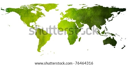 World vector map in grunge style. Eps 10 - stock vector