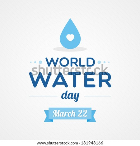 World Water Day - stock vector
