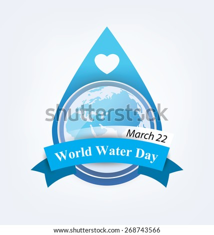 World Water Day concept. Vector illustration. - stock vector