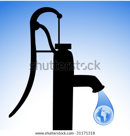 world water system - stock vector
