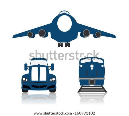 World wide cargo transport - stock vector