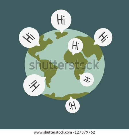 world wide communications - stock vector