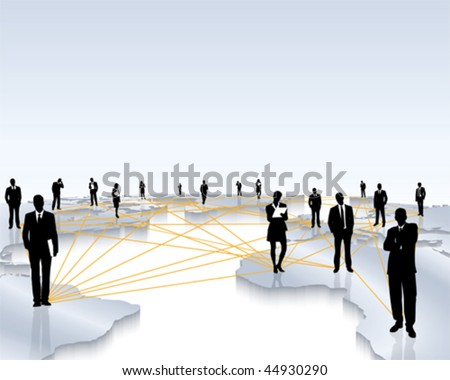 world wide networking - stock vector