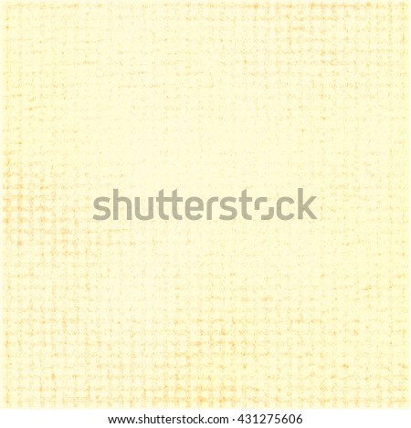 Worn grid paper. Yellow background. Abstract vector. - stock vector