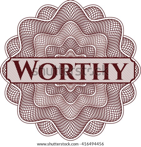 Worthy money style rosette - stock vector