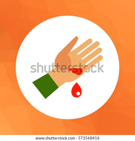 Wound and blood drop - stock vector