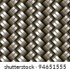 Woven metal seamless background - texture pattern for continuous replicate. - stock photo