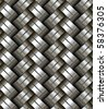 Woven metal seamless pattern - texture pattern for continuous replicate. - stock photo