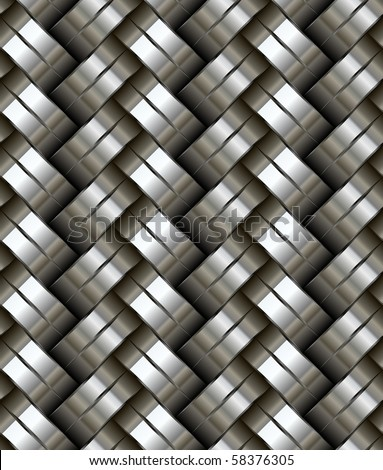 Woven metal seamless pattern - texture pattern for continuous replicate. - stock vector
