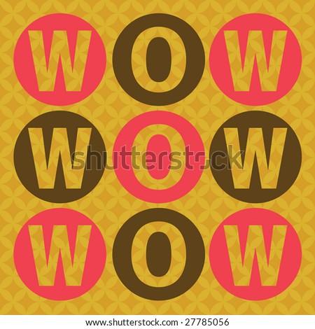 wow invitation card - stock vector