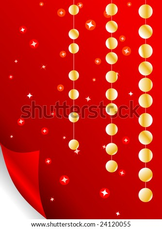 wrap paper with glittery stars - stock vector