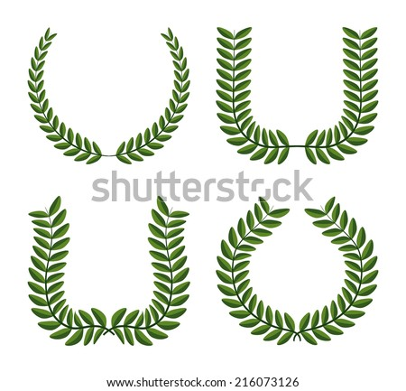 wreath design over background vector illustration