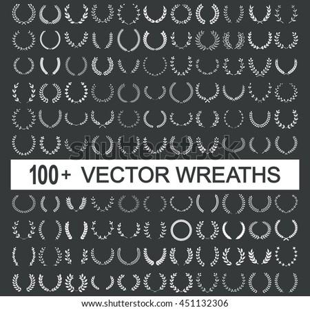 Wreath vector frame  - stock vector