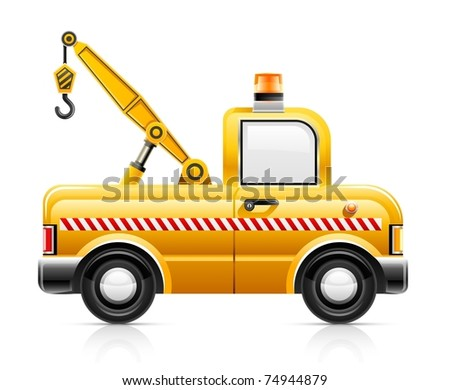 wrecker car service vector illustration isolated on white background - stock vector