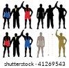 Wrestler winner (vector) - stock vector