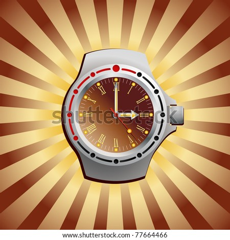 Wrist watches - stock vector