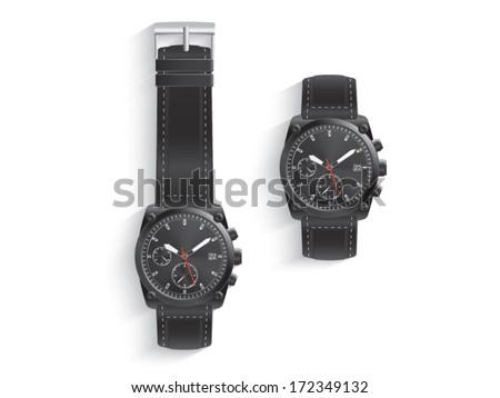 Wristwatch - stock vector
