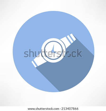 Wristwatch icon - stock vector