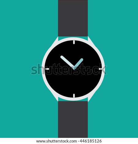 wristwatch;time concept-vector