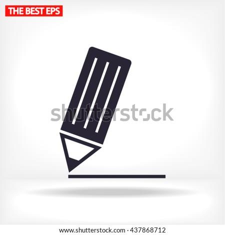 write a note web icon. vector 10 EPS - stock vector