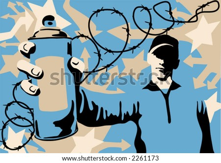 writer - graffiti painters (vector)