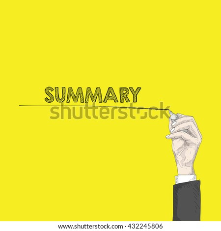 writing - stock vector