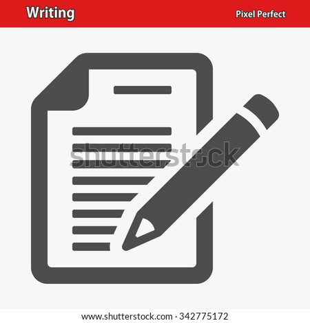 Writing Icon. Professional, pixel perfect icons optimized for both large and small resolutions. EPS 8 format. - stock vector