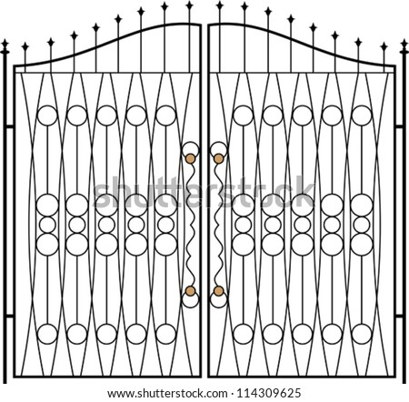 Grill Fence Design Wrought iron gate door fence window stock vector 114309625 wrought iron gate door fence window grill railing design workwithnaturefo