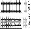 Wrought iron modular railings and fences - stock photo