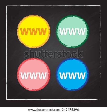 www circular icon - stock vector