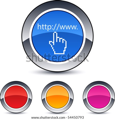 Www click glossy round web buttons.