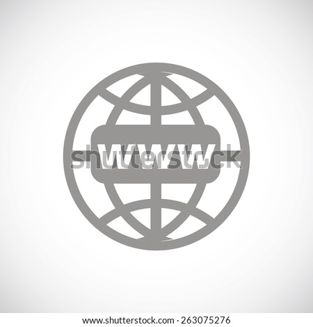 Www web black icon on a white background. Vector symbol - stock vector