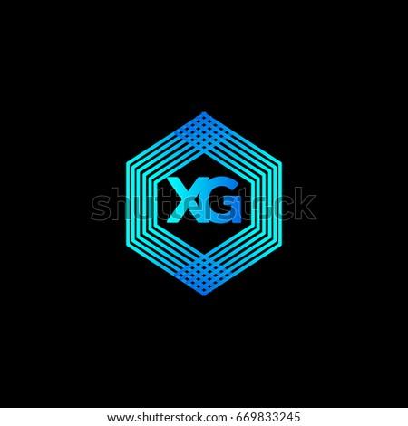 X G Logo Stock Vector Royalty Free 669833245 Shutterstock