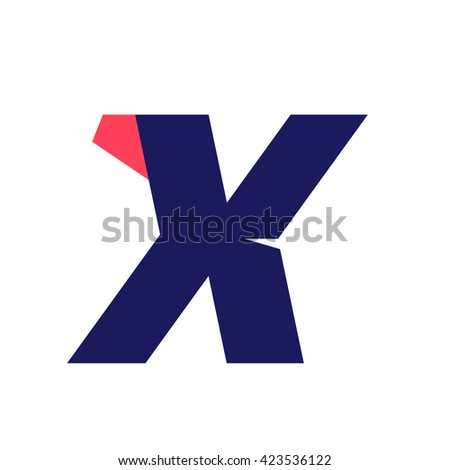 X letter run logo design template. Vector sport style typeface for sportswear, sports club, app icon, corporate identity, labels or posters. - stock vector