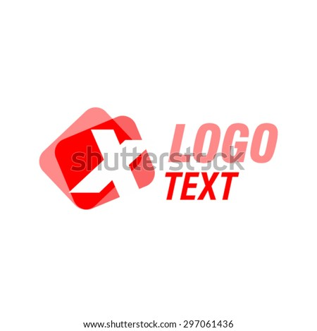 X logo design template. - stock vector