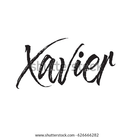 Xavier text design vector calligraphy typography stock vector xavier text design vector calligraphy typography poster usable as background toneelgroepblik Images