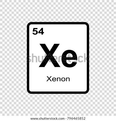 Xenon chemical element sign atomic number stock vector 2018 xenon chemical element sign with atomic number chemical element of periodic table urtaz Images