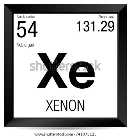 Xenon symbol element number 54 periodic stock vector 741878125 xenon symbol element number 54 of the periodic table of the elements chemistry urtaz Choice Image