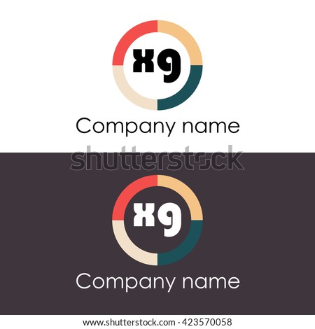 Xg Letters Business Logo Icon Design Stock Vector 423570058