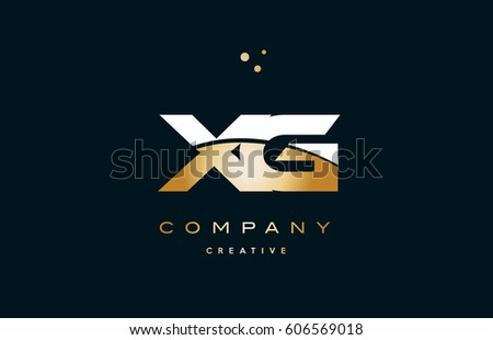 Xg X G White Yellow Gold Stock Vector Hd Royalty Free 606569018