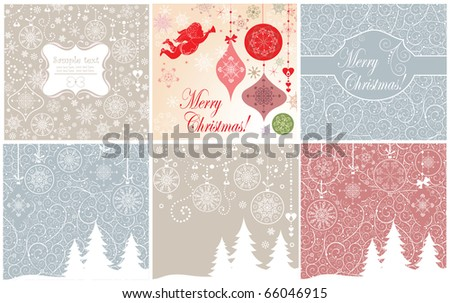 Xmas invitations - stock vector