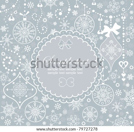 Xmas label - stock vector