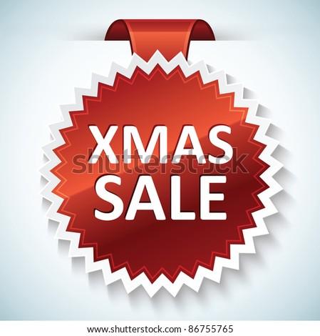 Xmas sale vector banner - stock vector