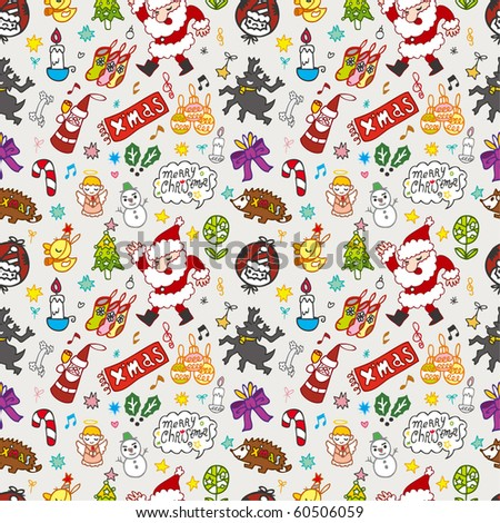 Xmas seamless pattern - stock vector