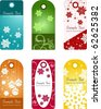xmas tags or holiday tags - stock vector