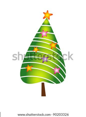 xmas tree - stock vector