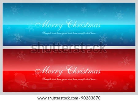 Xmas Vector Banners Set - stock vector