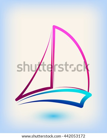 Yacht club emblem vector logo templates stock vector 442053172 yacht club emblem vector logo templates yachts silhouettes vector line yachts icon vector toneelgroepblik Image collections