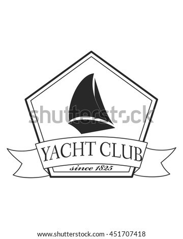 Yacht club emblem vector logo templates stock vector 451707418 yacht club emblem vector logo templates yachts silhouettes vector line yachts icon vector toneelgroepblik Image collections