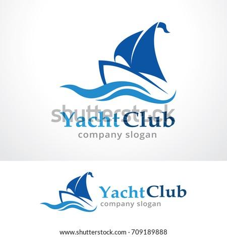 Yacht club logo template design vector stock vector 709189888 yacht club logo template design vector emblem design concept creative symbol icon toneelgroepblik Image collections